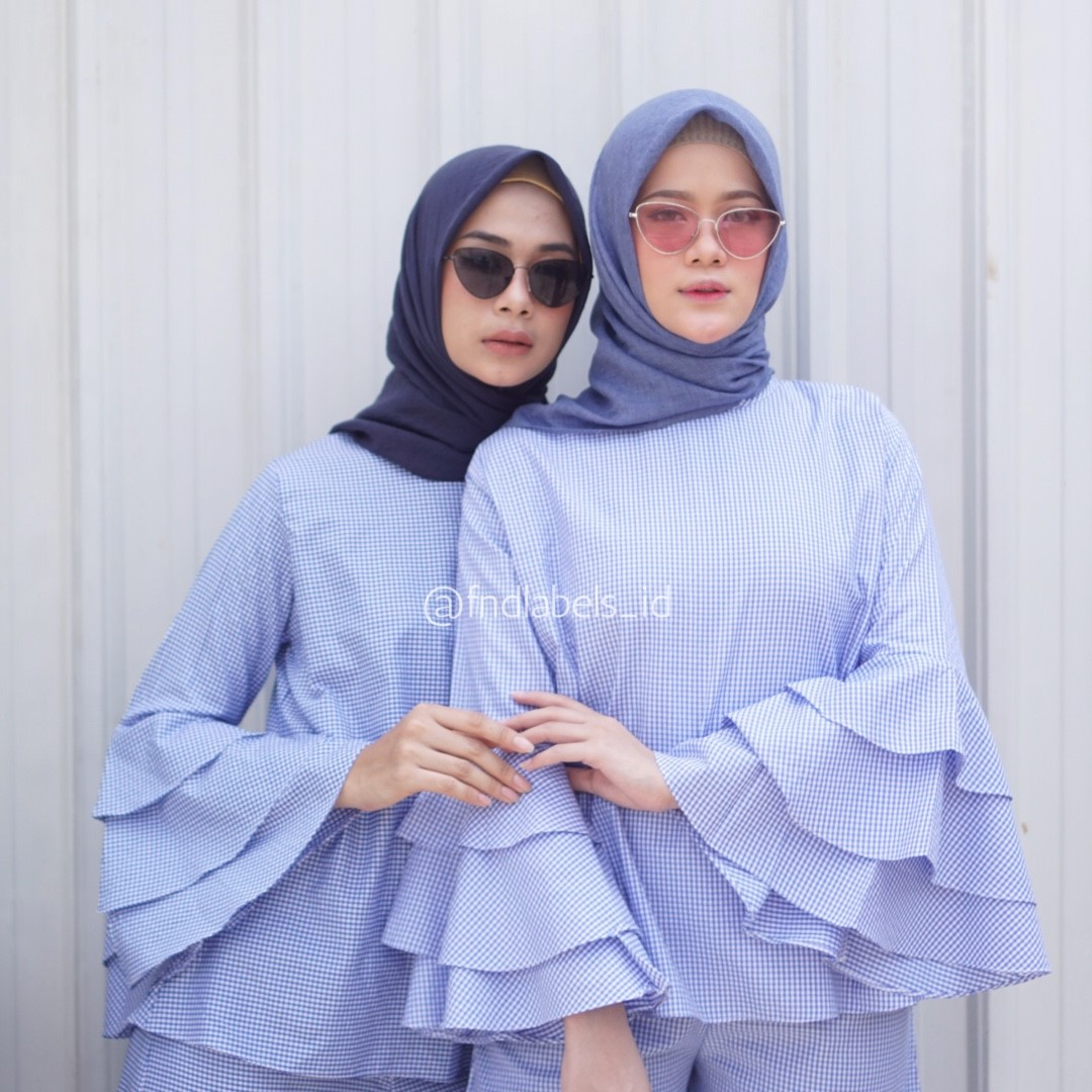 CEESA GINGHAM BABY BLUE