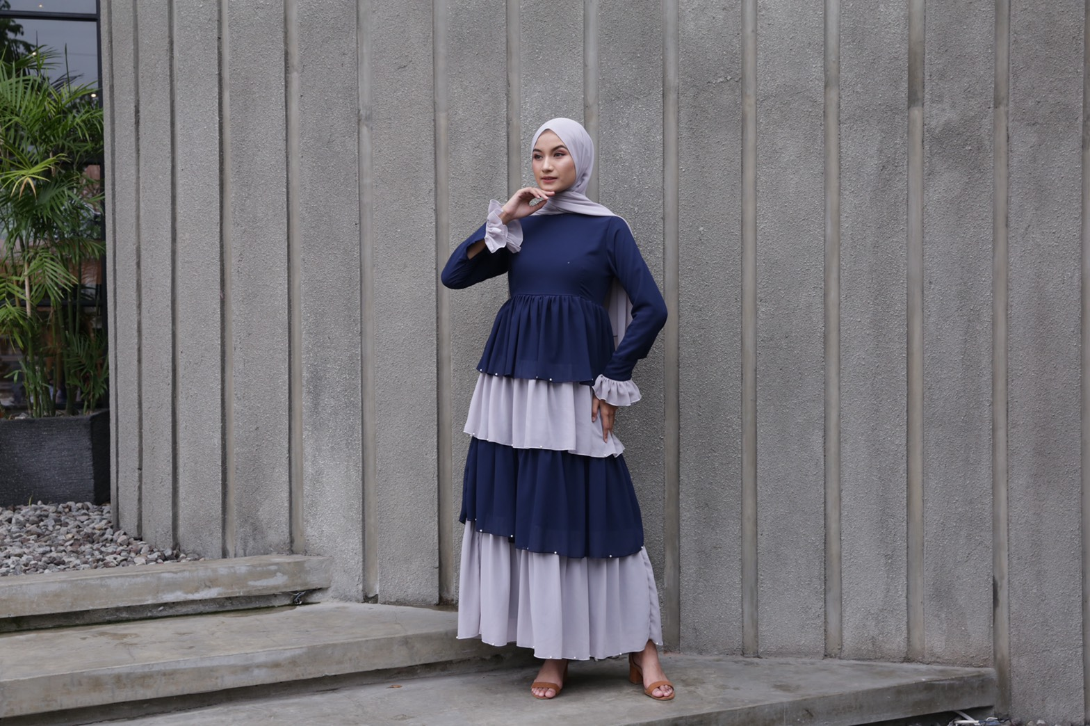 Delira Pigeon Blue Dress