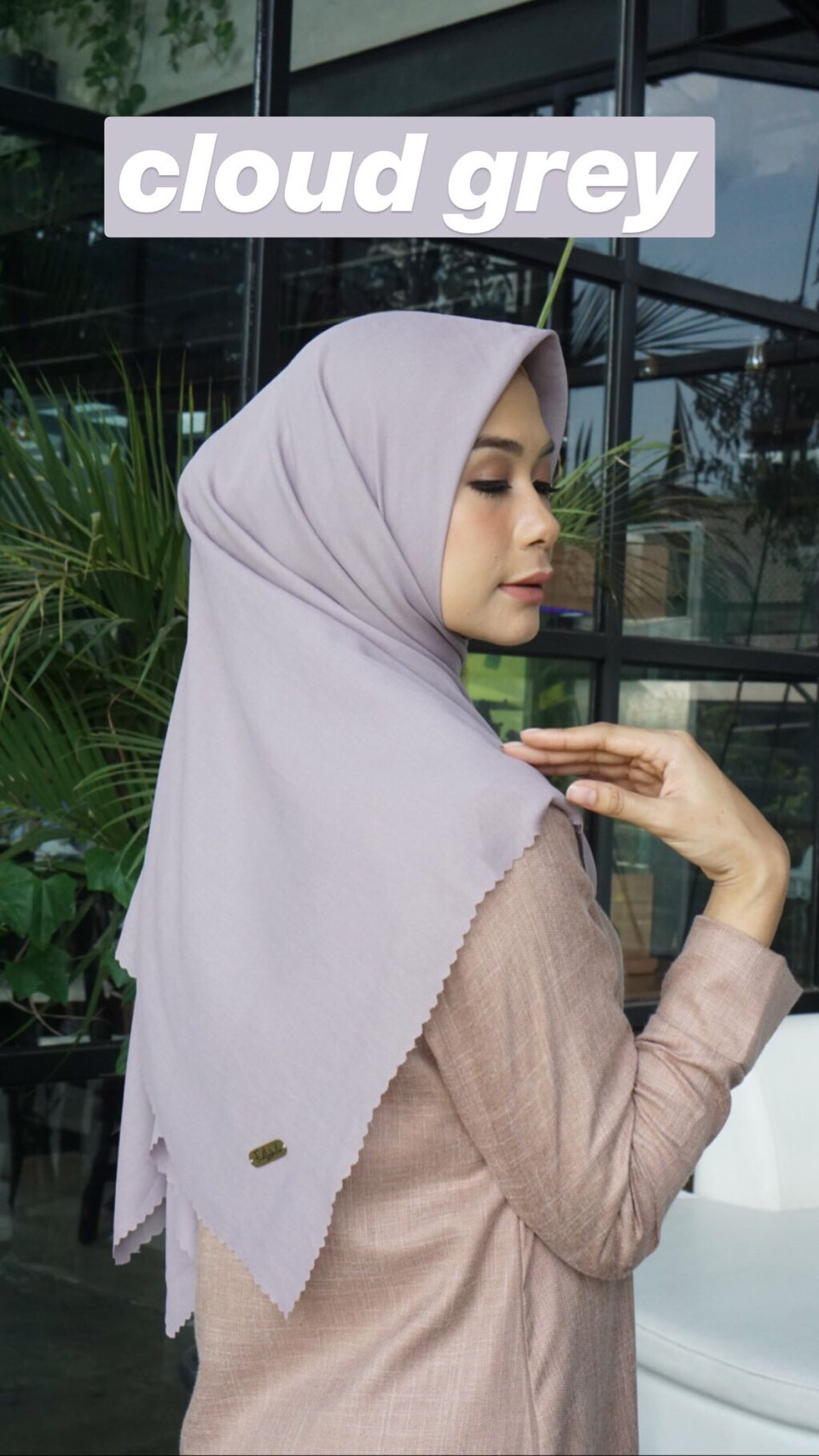 JILBAB WATERSPLASH CLOUD GREY