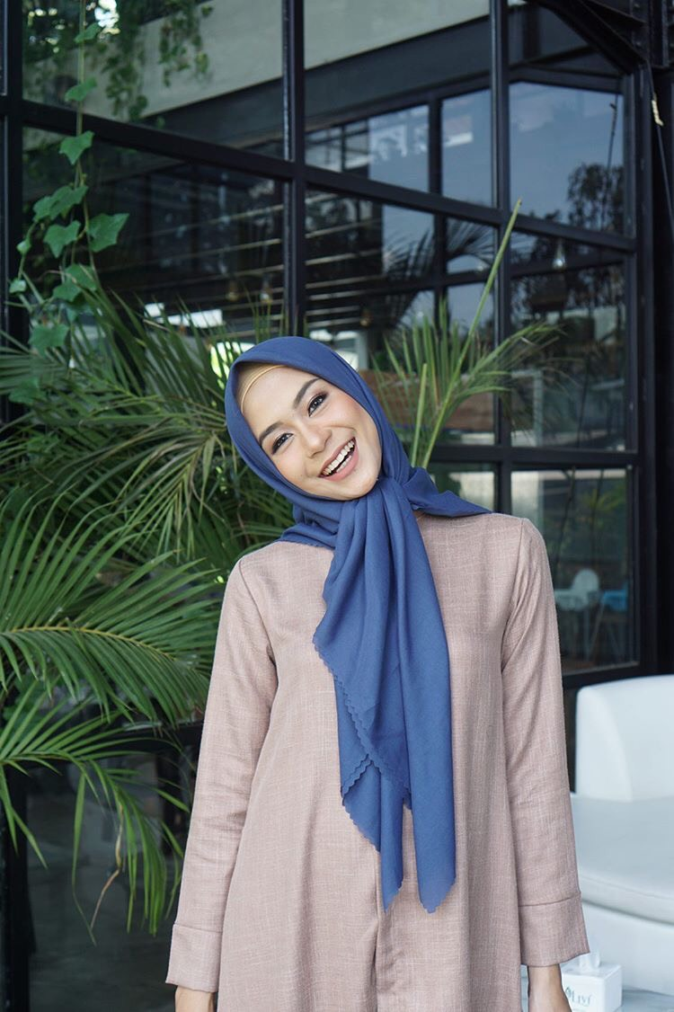JILBAB WATERSPLASH STEEL BLUE