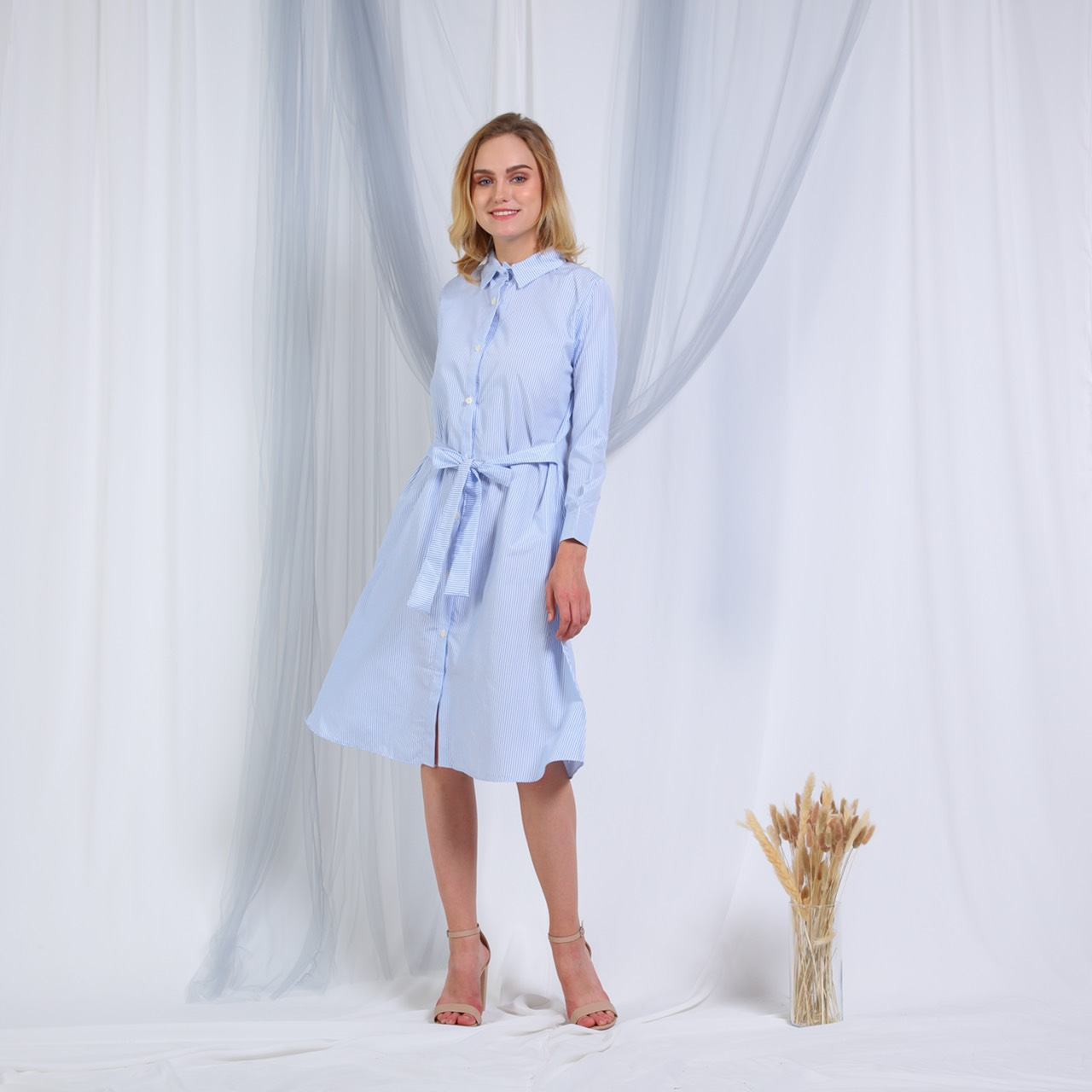 Lana tunik stripe baby blue