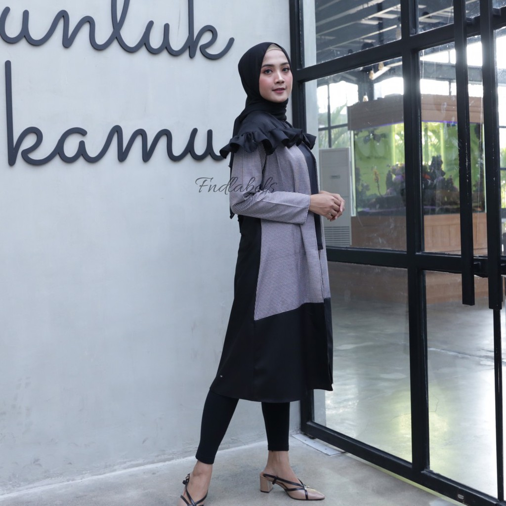 MARRY OUTER GINGHAM BLACK