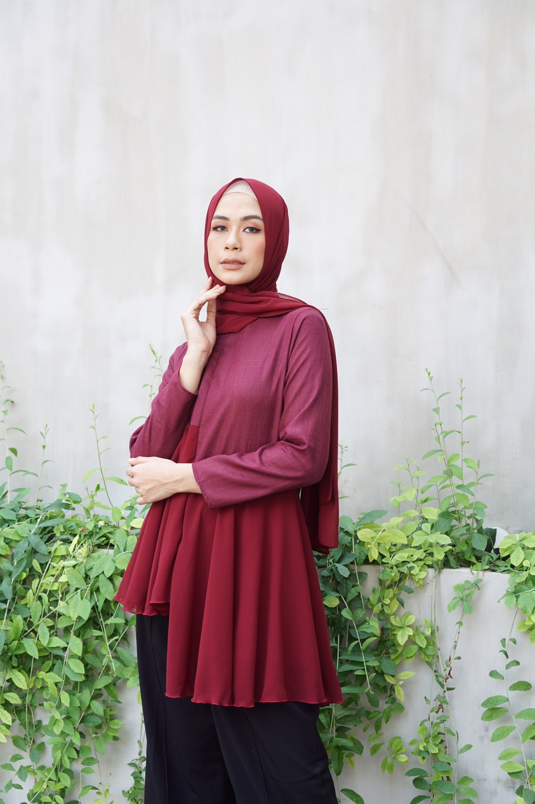 MOZZA TOP MAROON