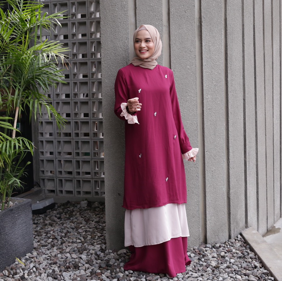 Rasyi Mahogany Dress
