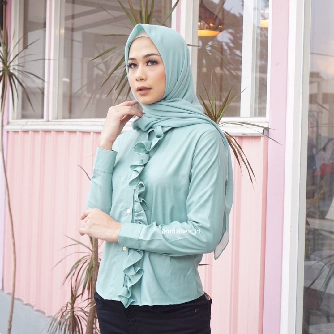 SOPHIE TOP TURQUOISE