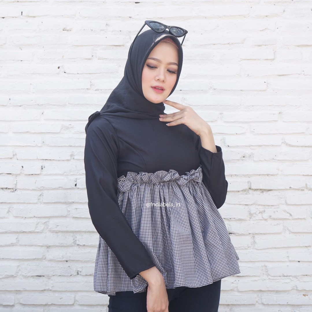 TINY TOP GINGHAM BLACK