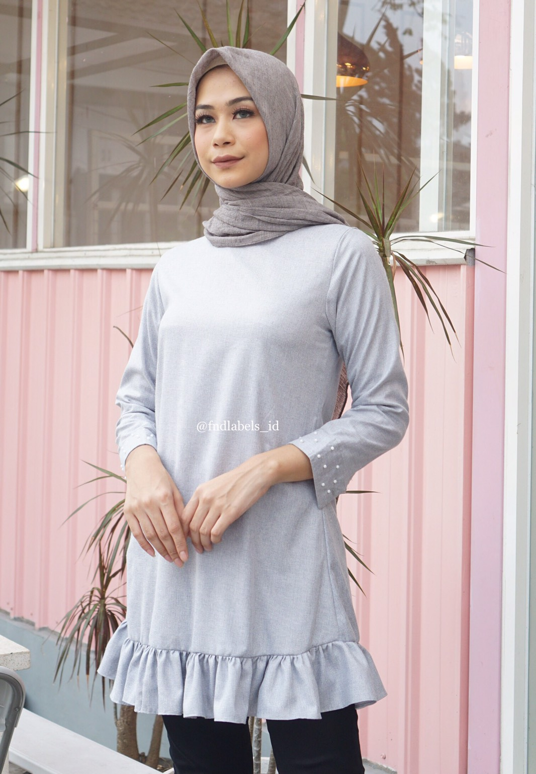 WINNIE TOP LIGHT GREY